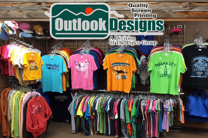 Custom screen printing, including screen printed t-shirts, screen printed sweatshirts, and screen printed hats, make Outlook Designs a trusted gift supplier catalog.